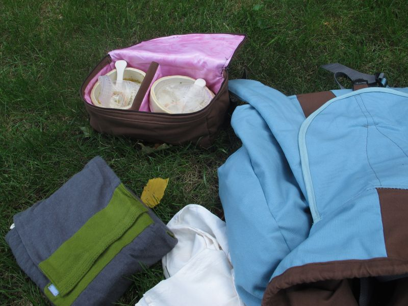 Travel pouches used in for the picnic