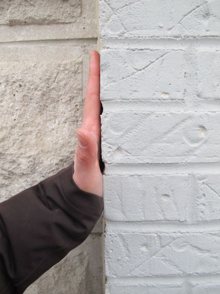 hand out perpendicular- wall
