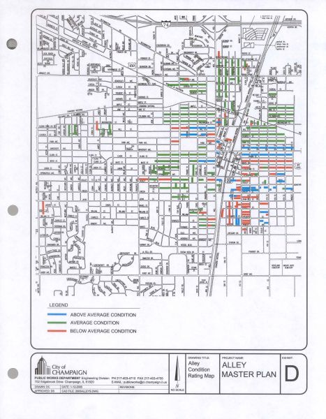 City of Champaign alley master plan