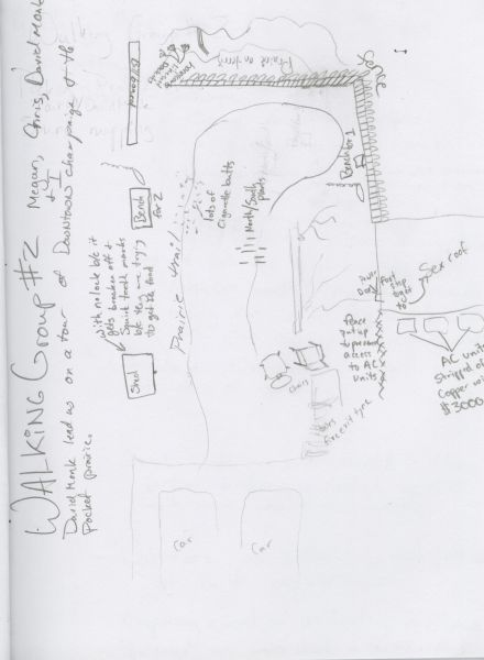 Hand drawn map of the Pocket Prairie